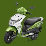 Honda Dio candy palm green colour option