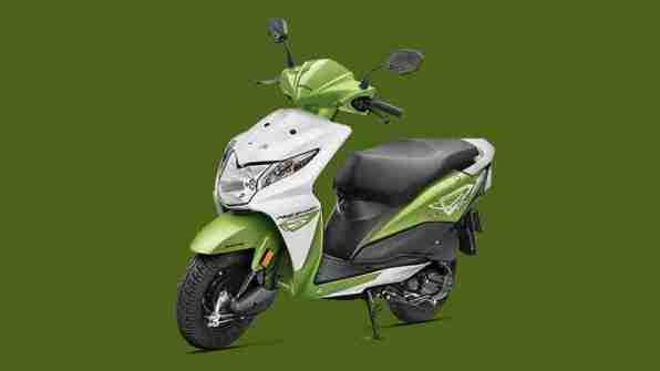 Honda Dio candy palm green colour option