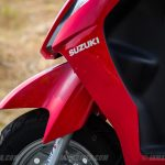 Suzuki Lets scooter front panel left view