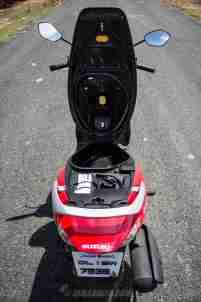 Suzuki Lets scooter underseat