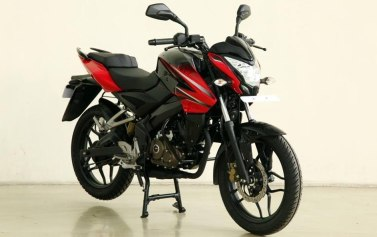 new bajaj pulsar 150ns red colour with kick starter