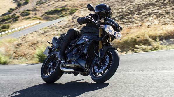 2015 Triumph Speed 94R jet black colour option
