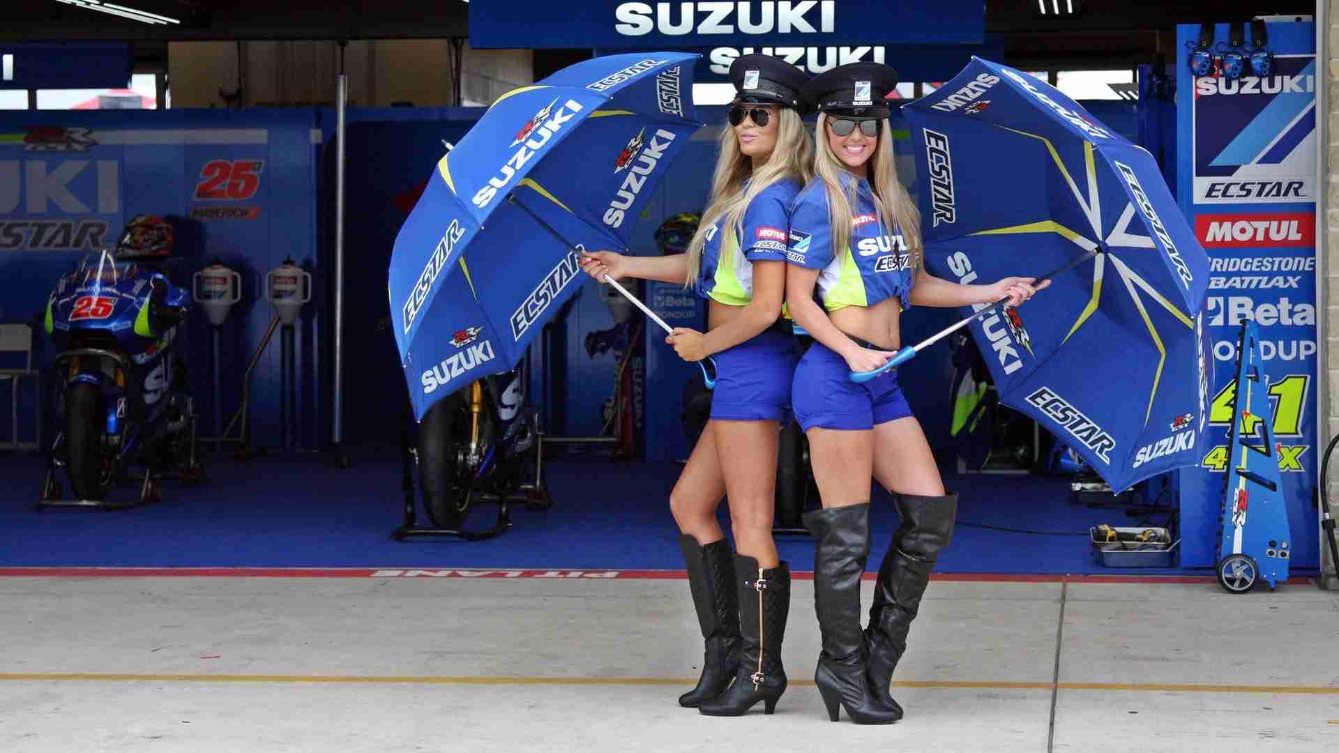 Suzuki paddock girls - MotoGP COTA Austin Texas
