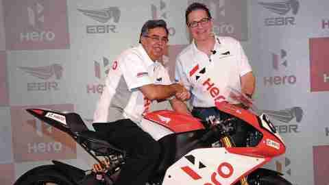 Erik Buell with Pawan Munjal