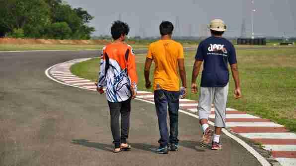 Apex Racing Team track walk