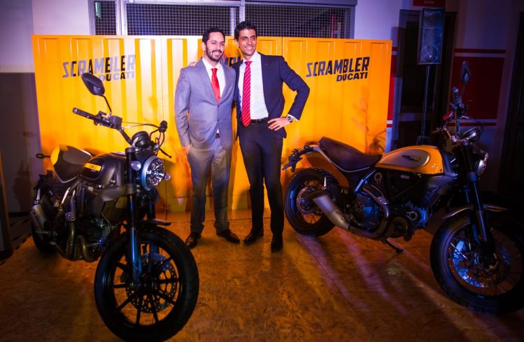 Ravi Avalur Ducati India MD and PF Scalzo Asia GM of Ducati