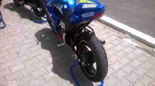 Suzuki Gixxer SF race spec Gixxer Cup tail section