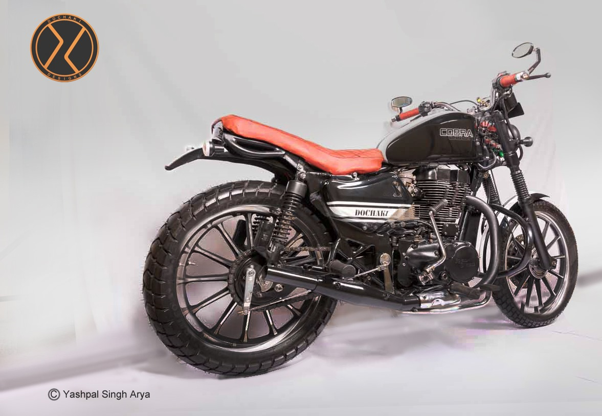 Custom Royal Enfield Cobra back view