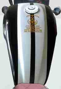 Custom Royal Enfield Cobra tank
