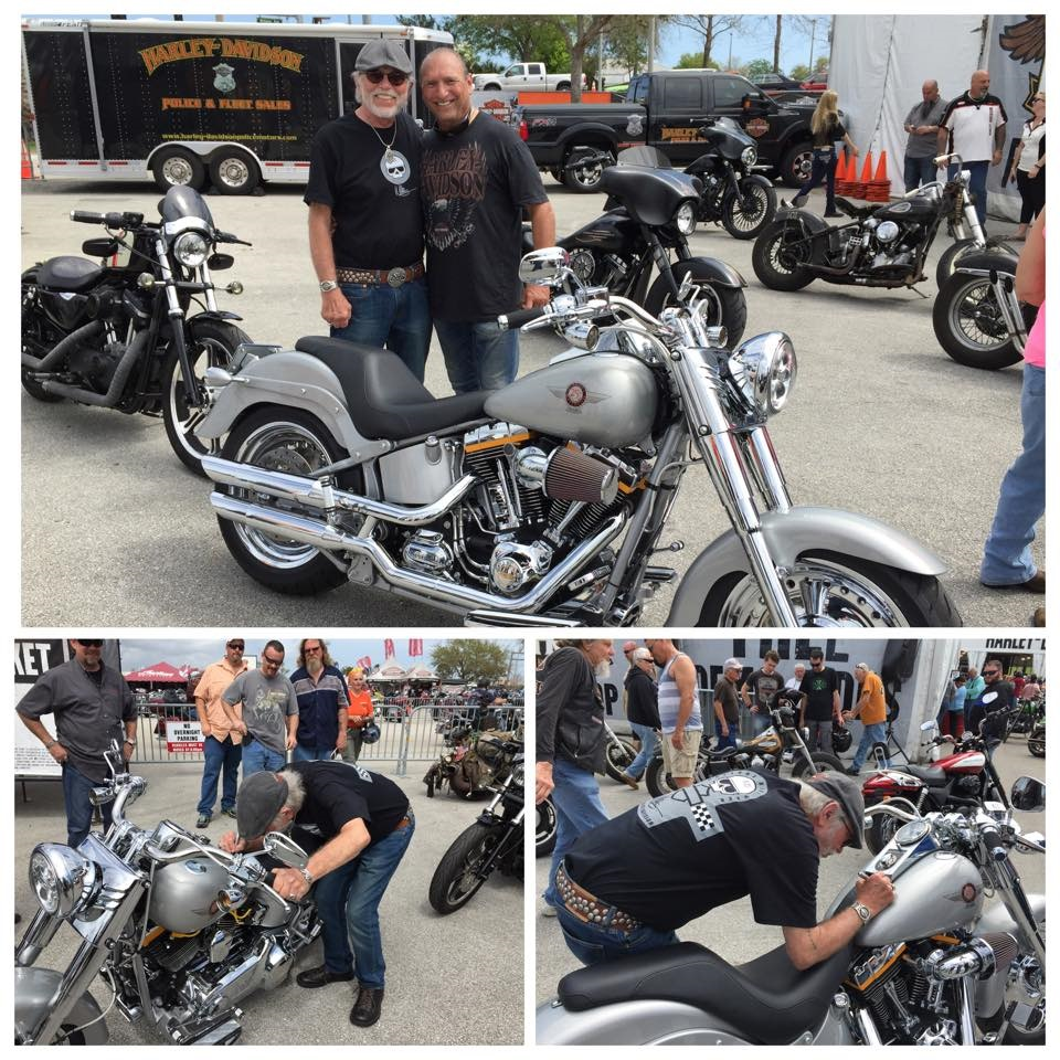 San Diego Harley Davidson Fat Boy with Willie G