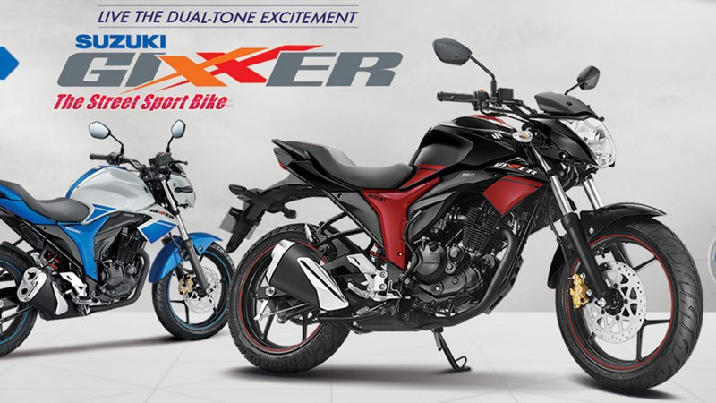New Suzuki Gixxer colour options