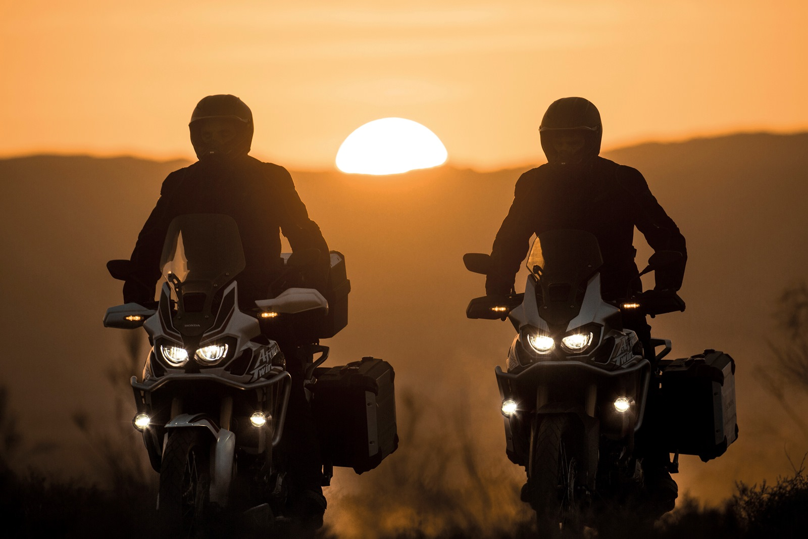 2016 Honda CRF1000L Africa Twin sunset