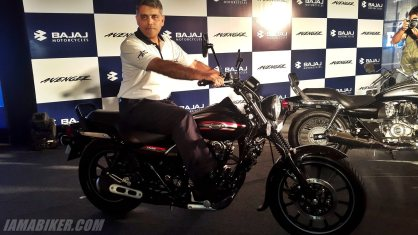 New Bajaj Avenger with Mr. Eric Vas