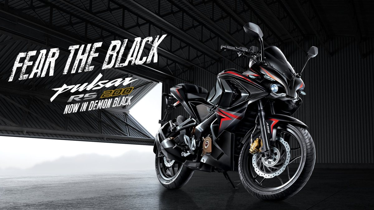 Pulsar RS 200 colour option demon black