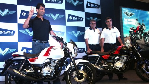 Rajiv Bajaj at Bajaj V launch