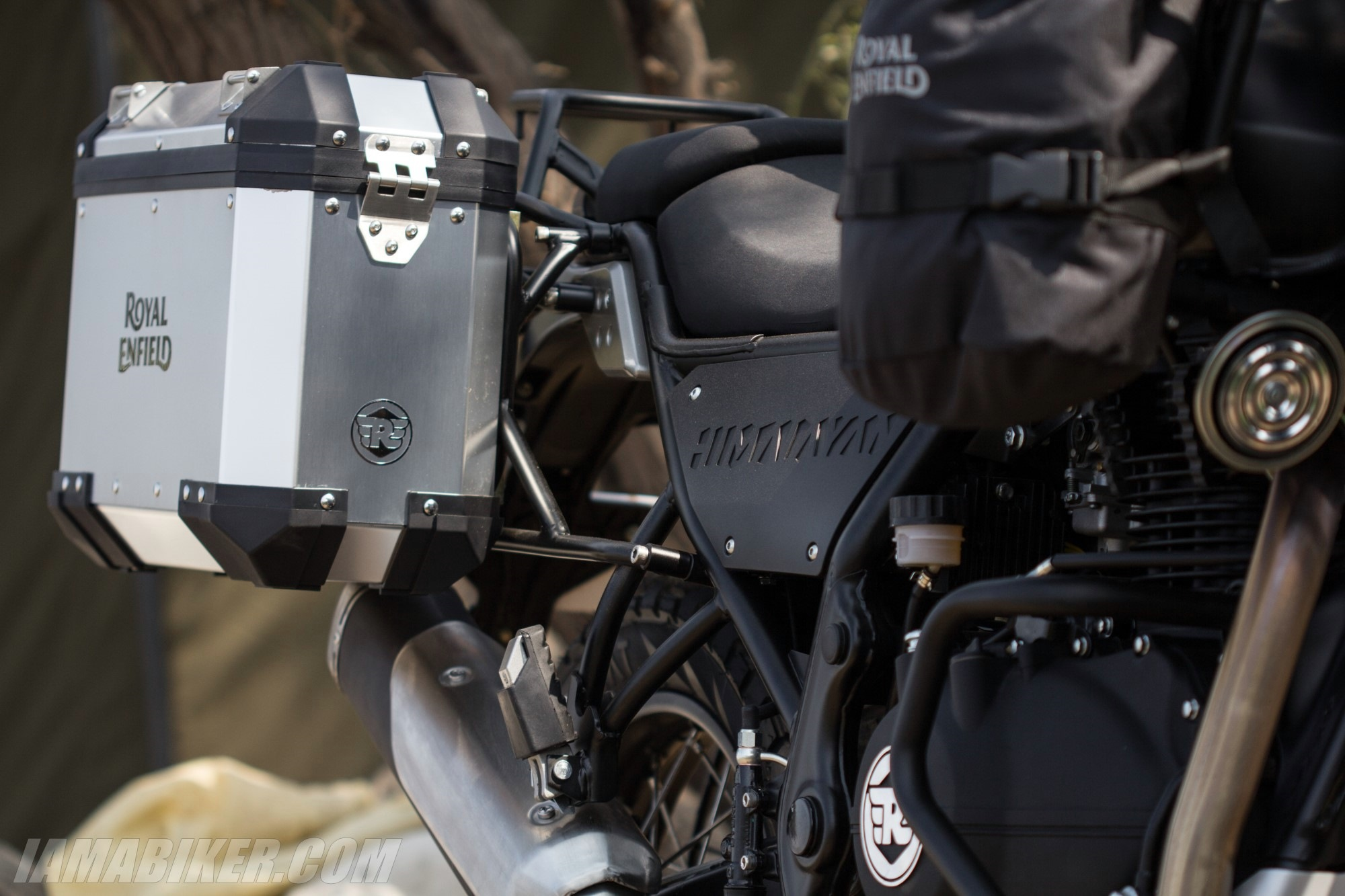 Royal Enfield Himalayan with panniers