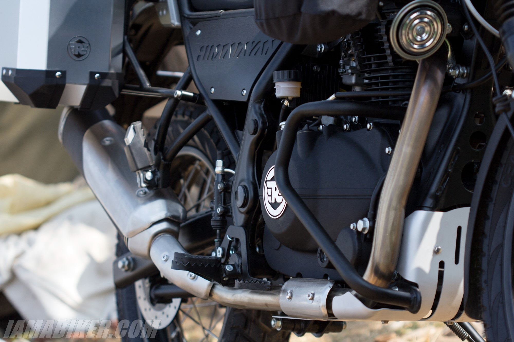 Royal Enfield Himalayan exhaust silencer