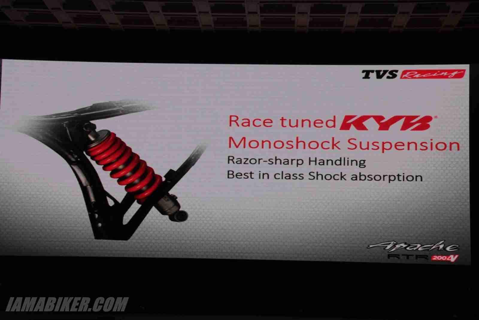 TVS Apache RTR 200 mono shock