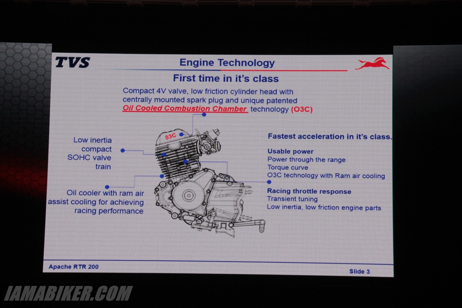 TVS Apache RTR 200 engine technology