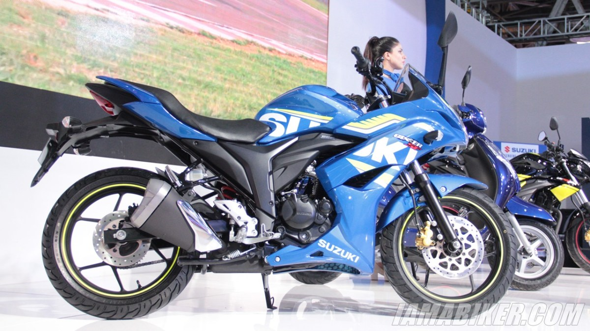 Suzuki Gixxer SF with rear disc brake