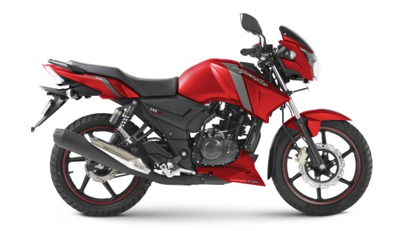 TVS Apache RTR 160 Matte Red colour option
