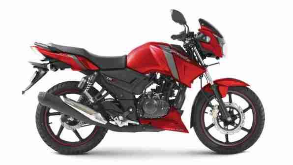 TVS Apache RTR 160 Matte Red colour option