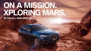 Test drive the BMW X3 on Mars