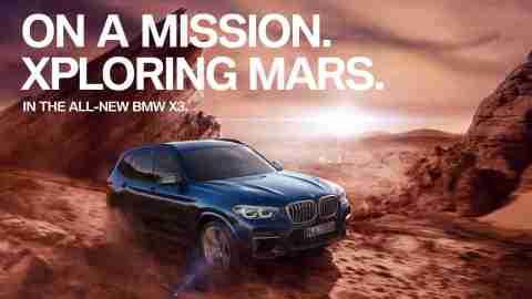 Test drive the BMW X3 on Mars