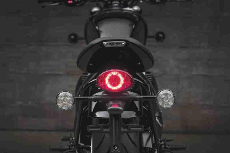 2018 Triumph Bonneville Bobber Black LED brake light