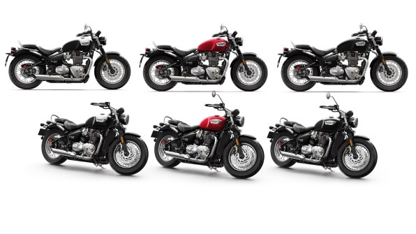 2018 Triumph Bonneville Speedmaster colour options