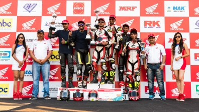Winners AVT Gold Cup Million Motorcycle Endurance Race