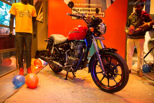 Thunderbird 350X red colour option