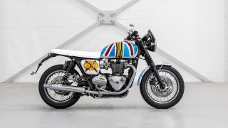 Triumph T120 art work HD wallpaper