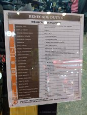 UM Renegade Duty S specifications