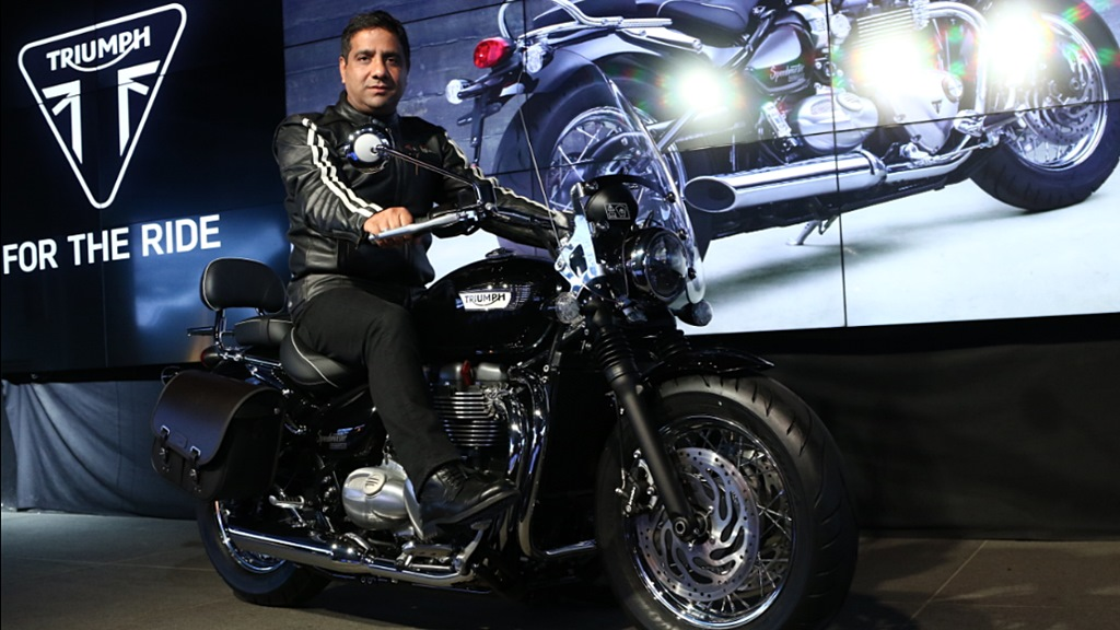 Vimal Sumbly 2018 Triumph Bonneville Speedmaster launch