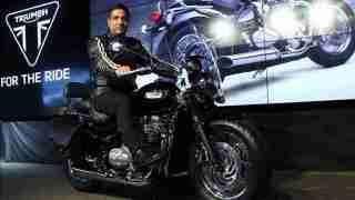 Vimal Sumbly 2018 Triumph Bonneville Speedmaster launch