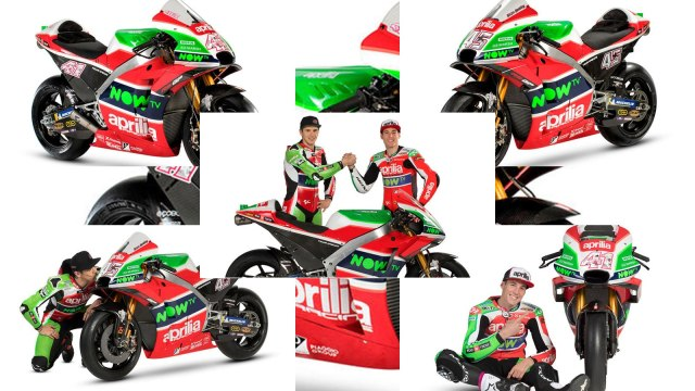 2018 Aprilia MotoGP team and bike unveiled