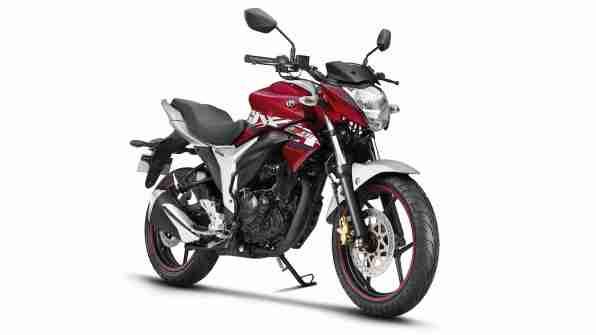 2018 Suzuki Gixxer Candy Sonoma Red Metallic Sonic Silver colour option