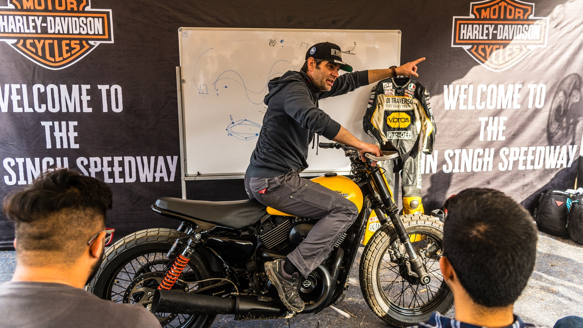 Harley Davidson Flat Track experience in India with Marco Belli ...