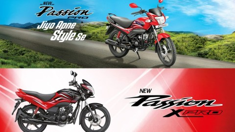 Hero MotoCorp 2018 Passion Pro and XPro