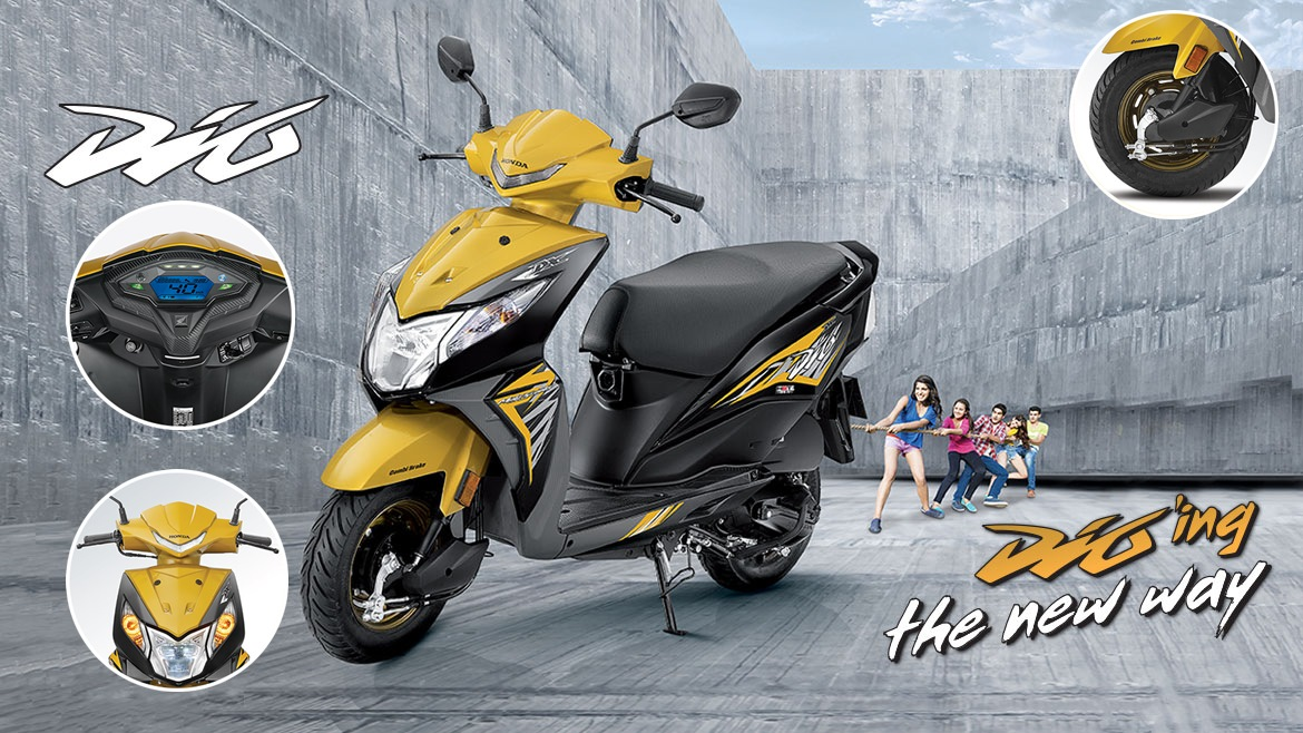2018 Honda Dio colour option - green metallic