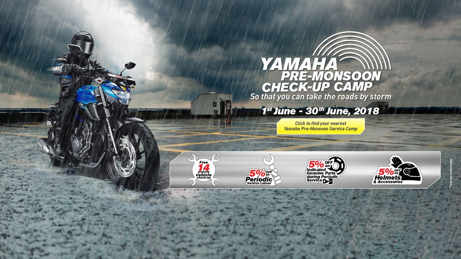 Yamaha organises Pre-Monsoon Check-up Camps