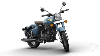 Royal Enfield Signals Airborne Blue - HD wallpaper | IAMABIKER