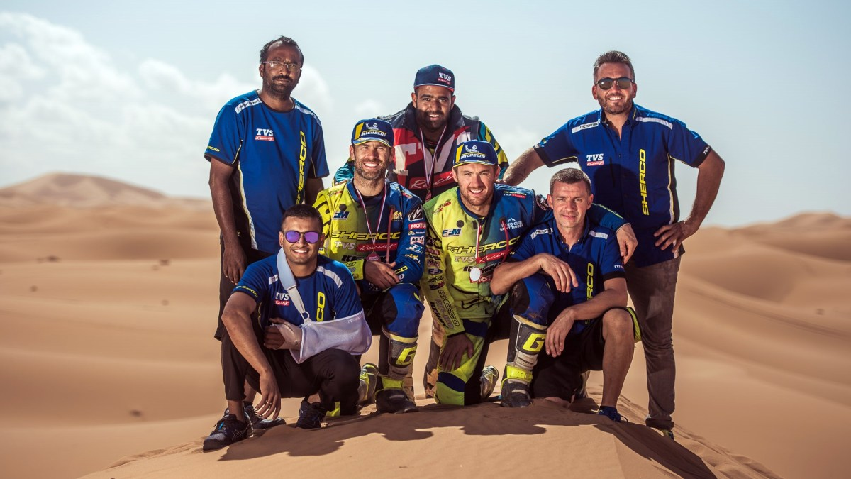 Sherco TVS Factory Rally Team wins PanAfrica Rally