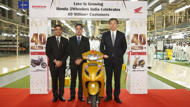 40 million Honda two wheeler's now sold in India