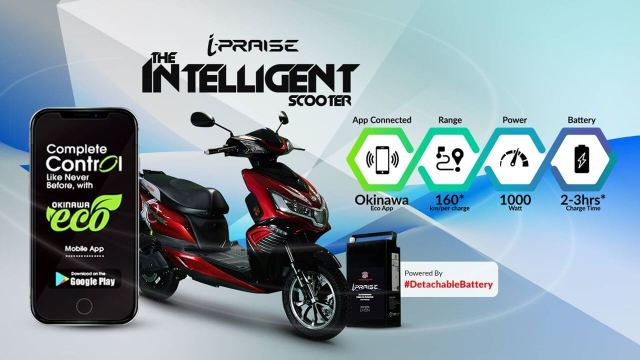 Okinawa i-Praise electric scooter launched