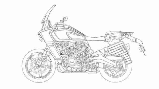 Harley-Davidson Pan-America-1250 with saree guard