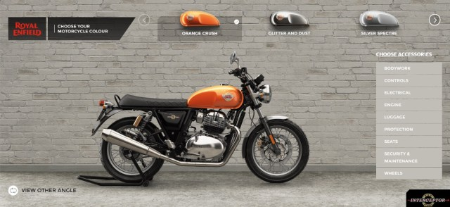 Royal Enfield GT 650 and Interceptor 650 accessories