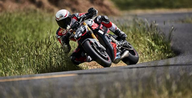 Ducati Streetfighter V4 prototype at Pikes Peak