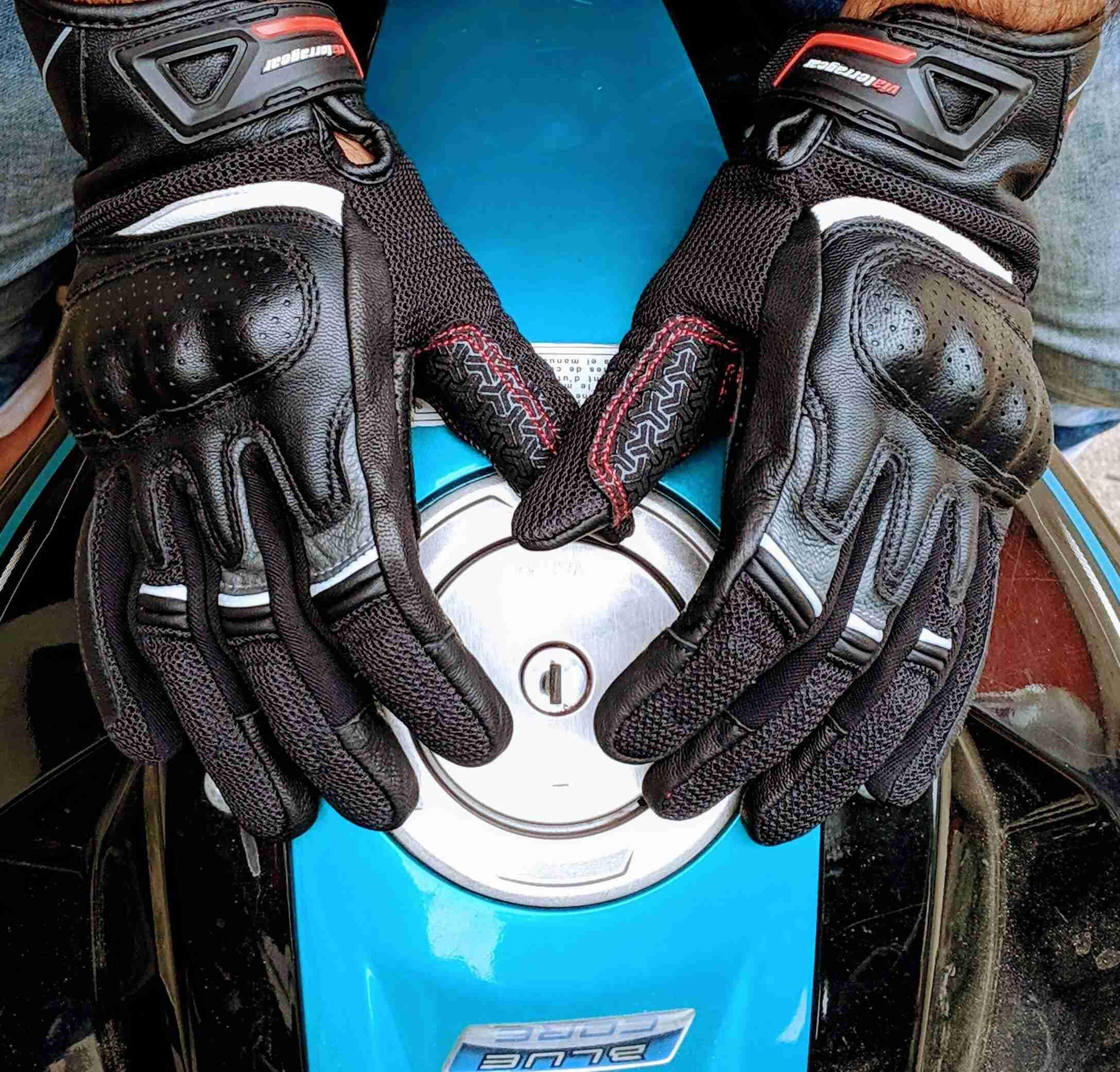 ViaTerra Holeshot gloves palm-side view